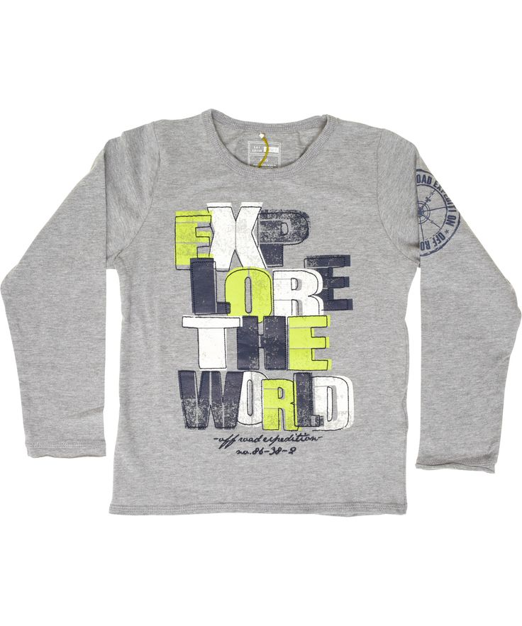 Name It grijze t-shirt met leuke letters in frisse kleurtjes. name-it.nl.emilea.be