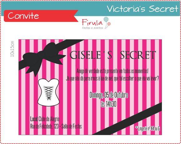 Convite Chá de Lingerie http://www.elo7.com.br/convite-digital-victoria-s-secret/dp/440BF8