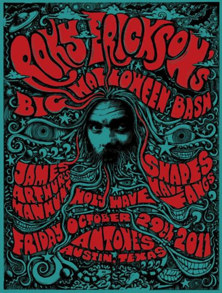 Roky Erickson Halloween Bash - with - James Arthur's Manhunt, Shapes Have Fangs, Not In The Face, Holy Wave - Austin, TX 2011