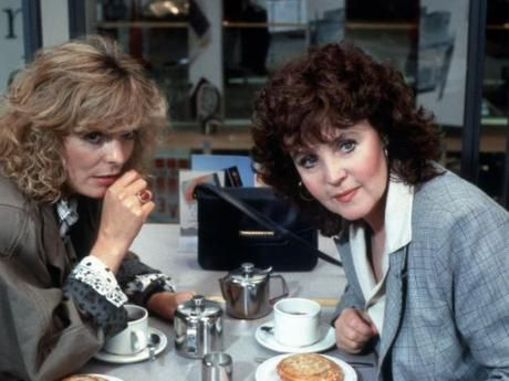 Shirley Valentine 1989 Comedy - Pauline Collins as Shirley and Alison Steadman as her friend Jane who wins a trip for 2 to Greece and brings Shirley with her.