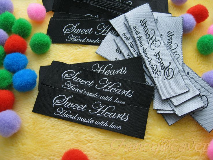 Woven label with heat cut wovenlabel clothingtag sewinglabel customlabel designerlabel custom woven labelsclothing