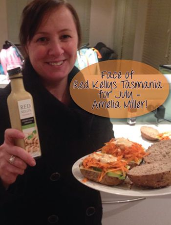 The Face of Red Kellys Tasmania for June was Amelia Miller. This is Amelia will her chicken burger drizzled with Red Kellys Tasmania's Creamy Cajun dressing. YUM!