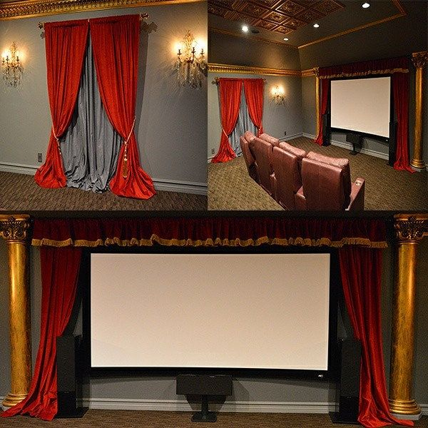 Make sure your Home Theater Stands Out From the Rest! We Can help you accomplish that! Visit our site www.LushesCurtains.com