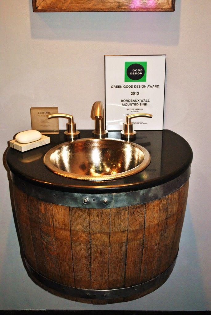 Best RECICLAR Y COMO NUEVO MUEBLES LRM Images On - Wine barrel bathroom vanity for bathroom decor ideas