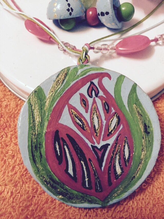 My latest design - terracotta pendant