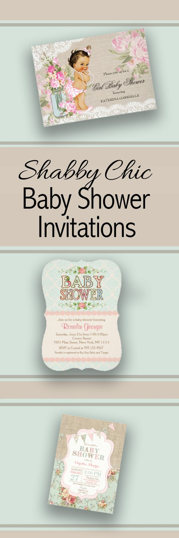 Large selection of beautiful shabby chic baby shower invitations. http://www.growingfamilycelebrations.com/2016/06/cute-shabby-chic-baby-shower-invitations.html