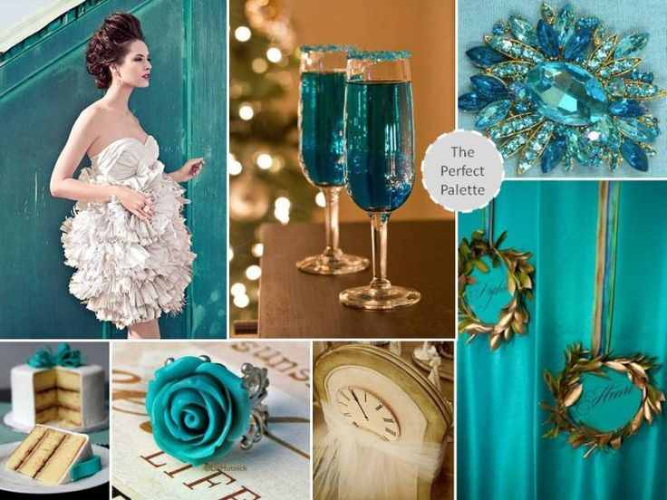 119 best images about teal weddings on pinterest for Turquoise gold wedding theme