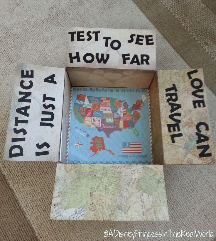 Distance is just a test to see how far love can travel Care package for Military Deployment: