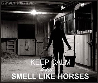 Keep calm and smell like horses.