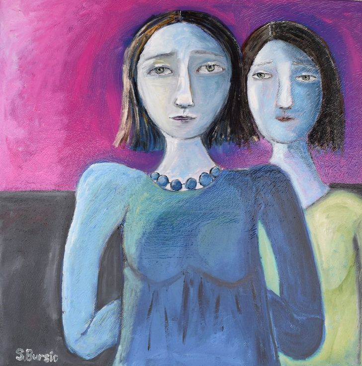 Buy Sister Secrets, Oil painting by Sharyn Bursic on Artfinder. Discover thousands of other original paintings, prints, sculptures and photography from independent artists.