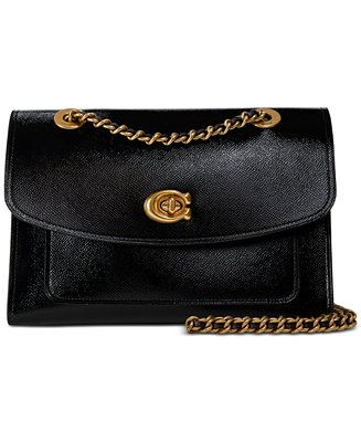 aeeff3bc5254 COACH Patent Leather Parker Shoulder Bag - Handbags & Accessories - Patent  Leather, Continental Wallet