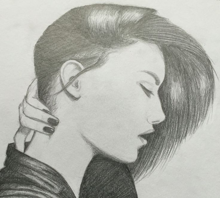 By GoldFinch :3     Drawing, pencil, hair, highlights, female, face, shading