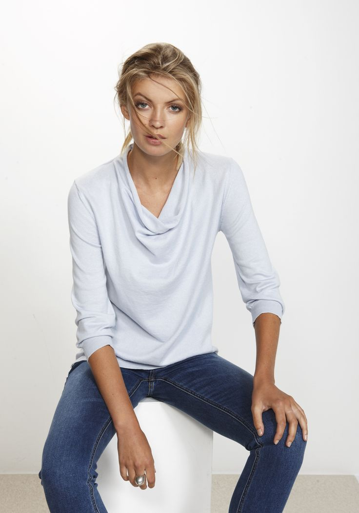 Whisper Sweater - 7/8 sleeve Silk/Cashmere/Cotton http:www.nineteen46.co.nz