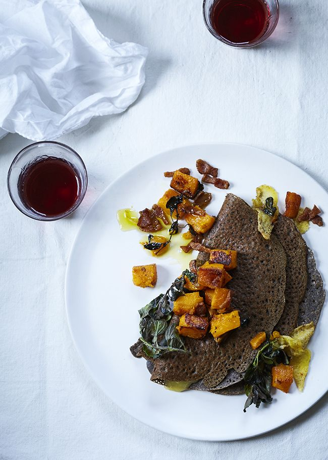 Buckwheat Crêpe with Roast Butternut Squash, Gruyère and Bacon ...