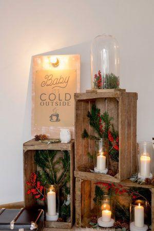 Une décoration avec des couleurs de saison pour un mariage en hiver