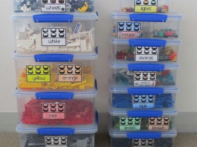 20 id es hyper pratiques pour ranger les lego rangement rangement playmobil et lego. Black Bedroom Furniture Sets. Home Design Ideas