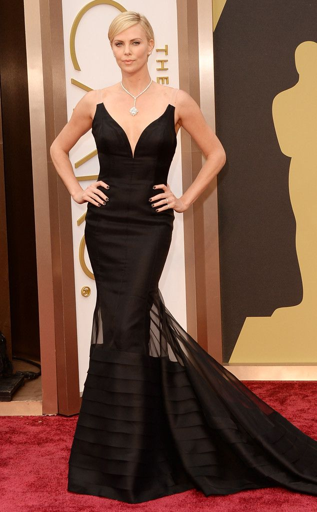 Charlize Theron is breathtaking in black. What a gorgeous gown!