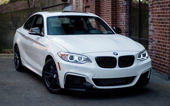 BMW 2, F22, white BMW, new cars, coupe, white m2, BMW