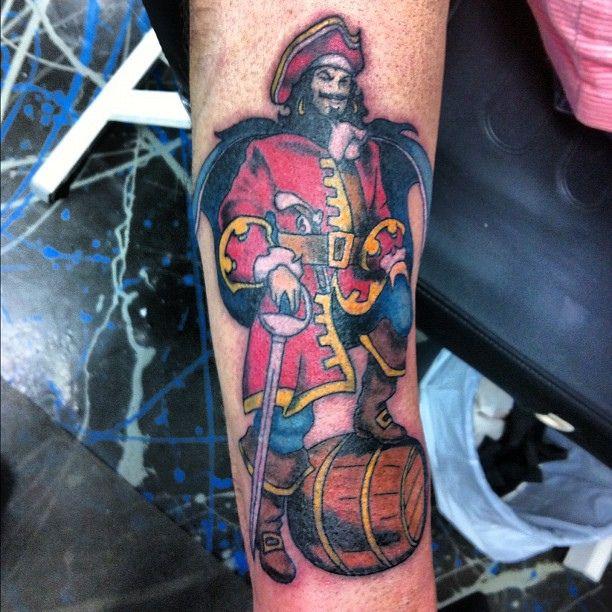 captain morgan tattoo - 612×612