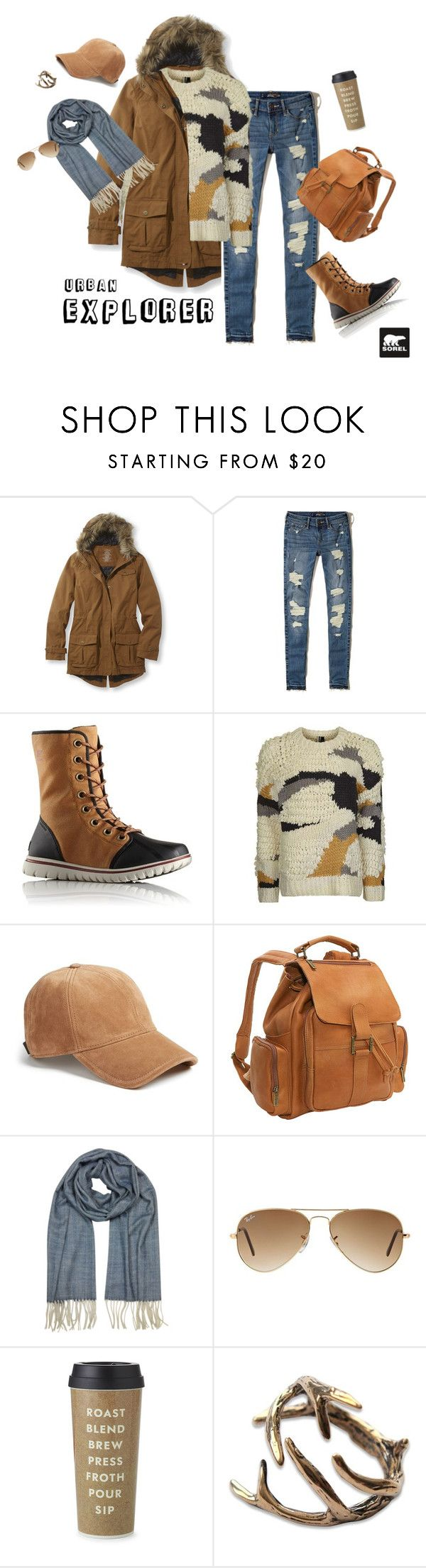 """""""Tame Winter with SOREL: Contest Entry"""" by goda-aleliuniene on Polyvore featuring L.L.Bean, Hollister Co., SOREL, Topshop, rag & bone, Le Donne, Mila Schön, Ray-Ban, Kate Spade and sorelstyle"""