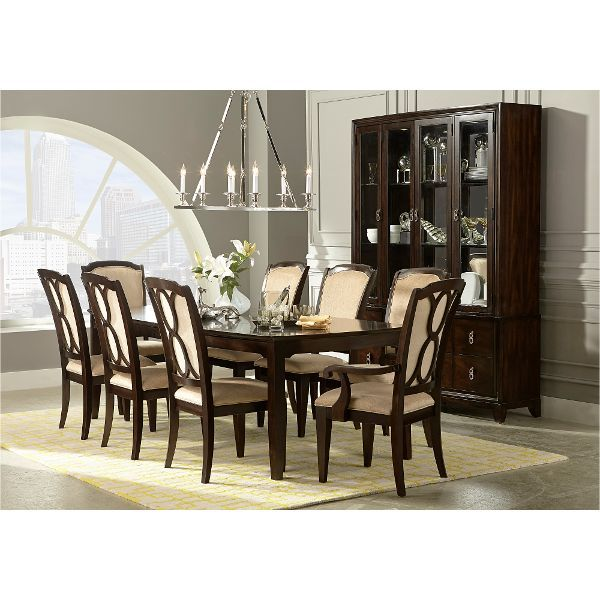sophia mahogany brown 5 piece dining set dining room