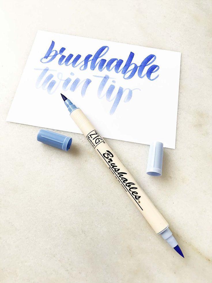 Brush Pens Bzw Pinselstifte Im Uberblick Papierliebe