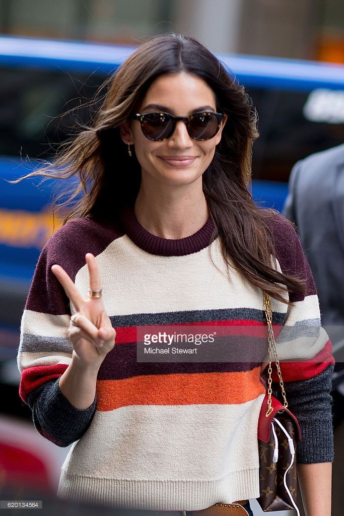 Model Lily Aldridge attends the 2016 Victoria's Secret Fashion Show model fittings on November 1, 2016 in New York City.