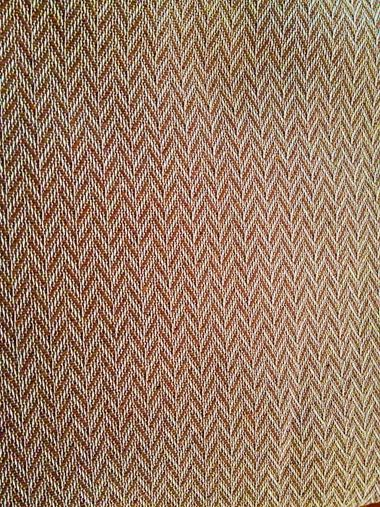 VIENNA ZIK-ZAK BROWN Ριχτάρια βαμβακερά, πλενόμενα, Ελληνικής ραφής #home #decoration #livingroom
