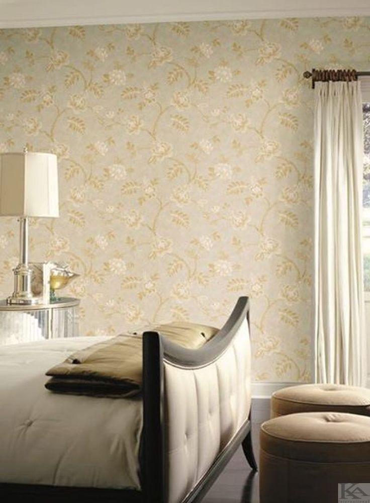 Tapet Embroidered, perfect pentru dormitor romantic. Wallpaper Bedroom. Tapet dormitor.