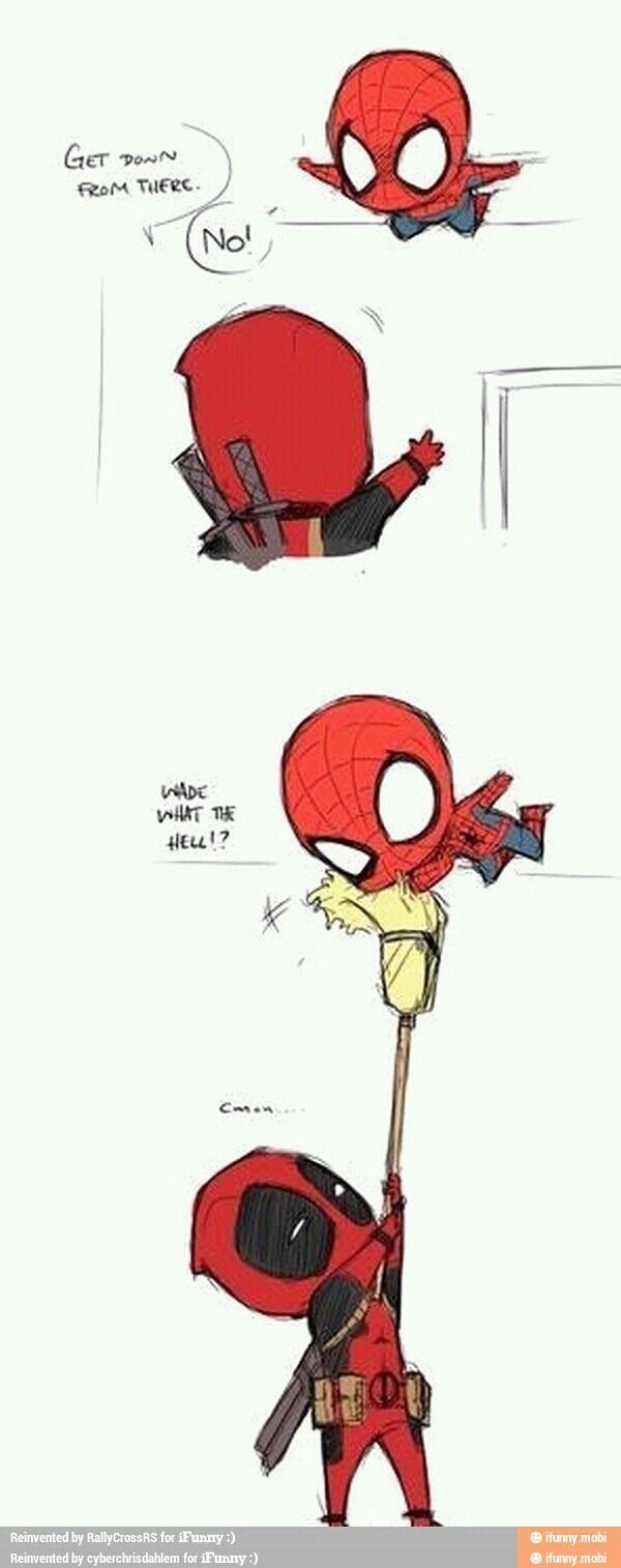 deadpool & spiderman/ iFunny :)