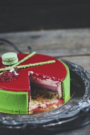 Торт Фисташка-малина » Рецепты » Кулинарный журнал Насти Понедельник. Кулинарные рецепты с фото.