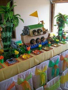 Opções para a mesa de bolo - Arca de Noé