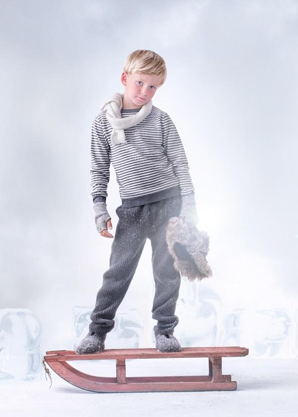 Alv stripe sweater grey <3 Copyright Mole - Little Norway   Photo Geir Øyvind Gismervik