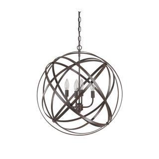 Benita 5-light Antique Bronze Metal Strap Globe Chandelier - Overstock Shopping - Great Deals on The Lighting Store Chandeliers & Pendants