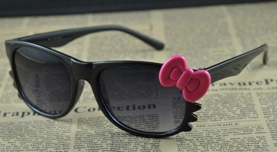 2012 Hello Kitty Kawaii Anti UV Sun Glasses Sunglasses Black pink bow £3@Nissi Skinner