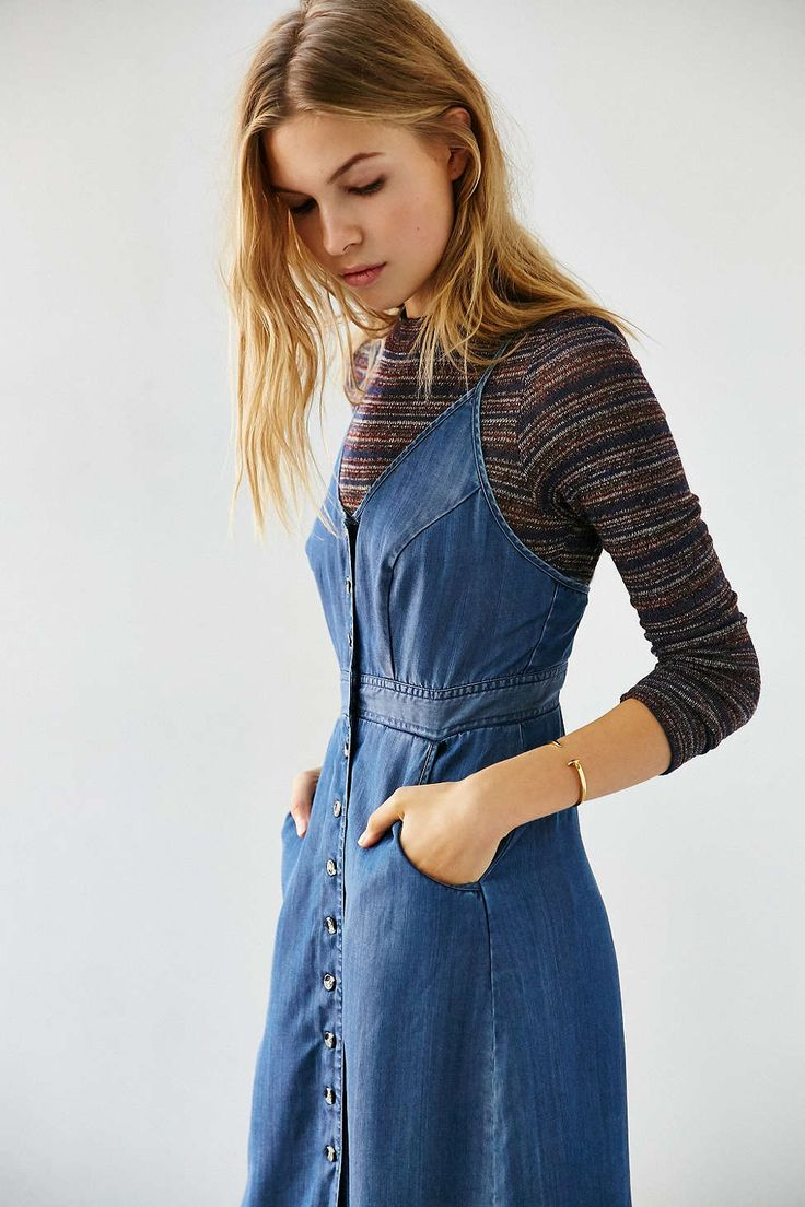 Kimchi Blue Denim Midi Dress