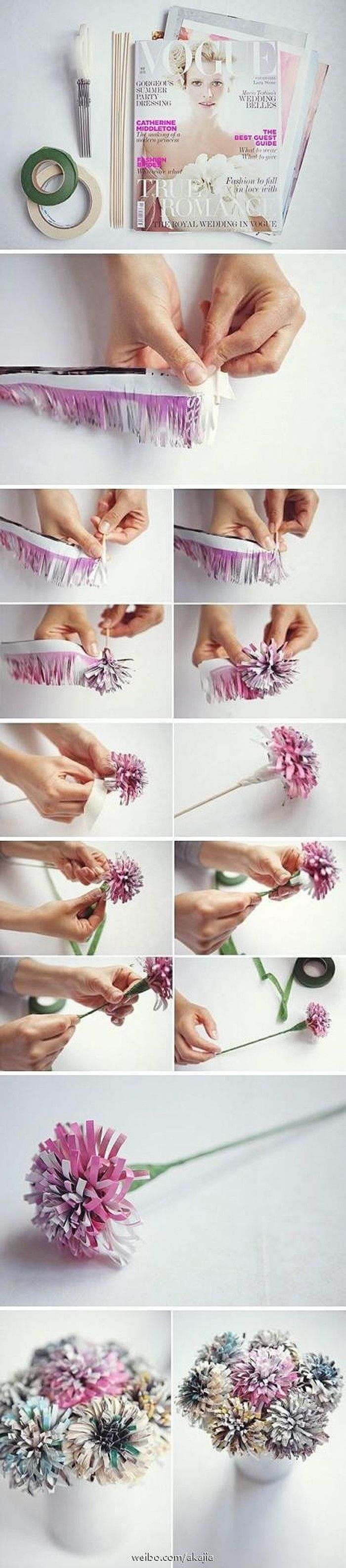 DIY Magazine Flowers Pictures, Photos, and Images for Facebook, Tumblr, Pinterest, and Twitter