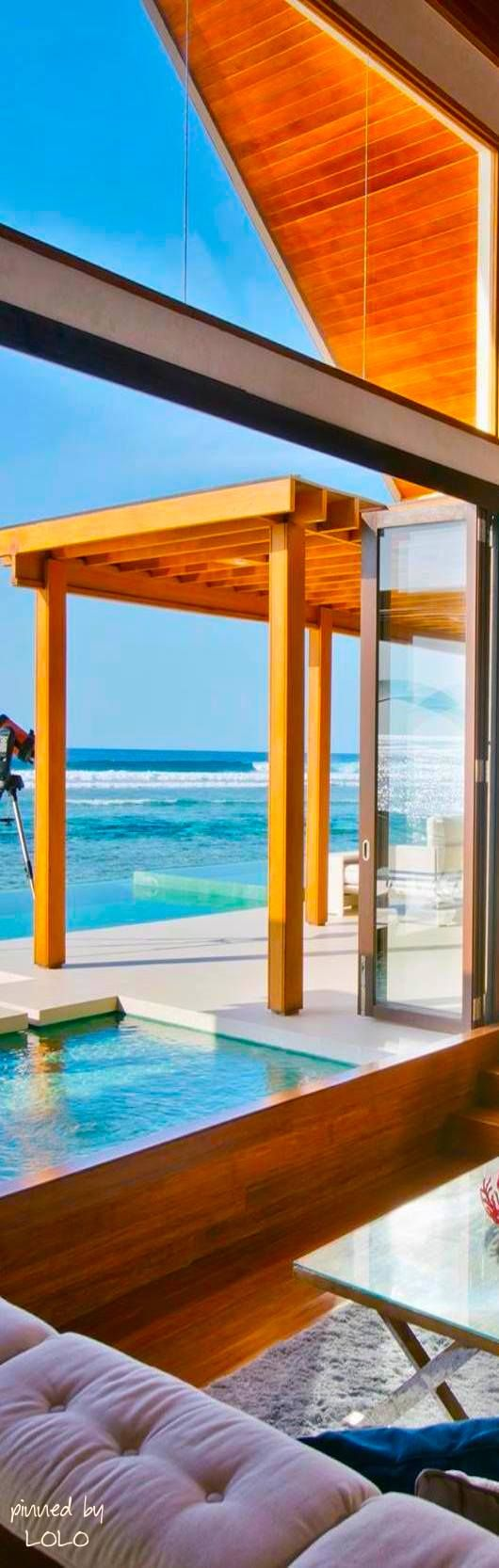 Luxury beach homes exterior - Luxury Beach Homes Niyama Maldives A Per Aquum