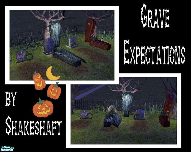A Set Of Caskets And Graves To Decorate Your Sim Cemeteries....also