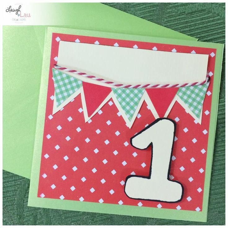 Biglietto di auguri Primo Compleanno 1⃣   Handmade first birthday card