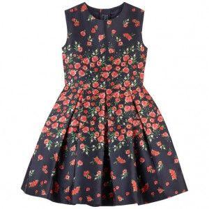 OSCAR DE LA RENTA Sukienka w róże (DOSTĘPNE WKRÓTCE)