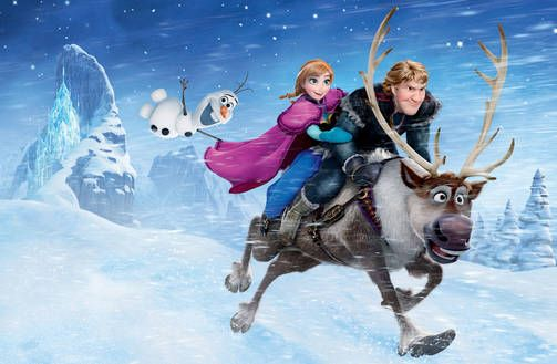 TV4 FROZEN Diseney ELOKUVA  4.5.2016 Olaf, Anna, Kristoff ja Sven etsivät Elsaa kylmissä olosuhteissa, jotka Elsa on loihtinut.