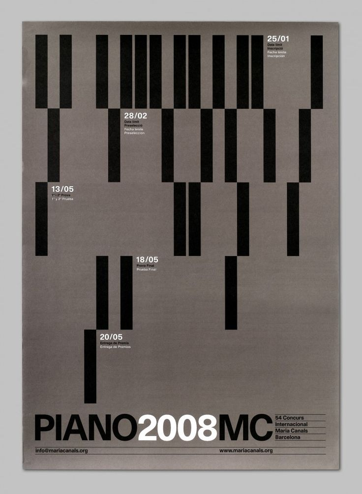 Poster for Maria Canals International Piano Competition by Astrid Stavro Studio.