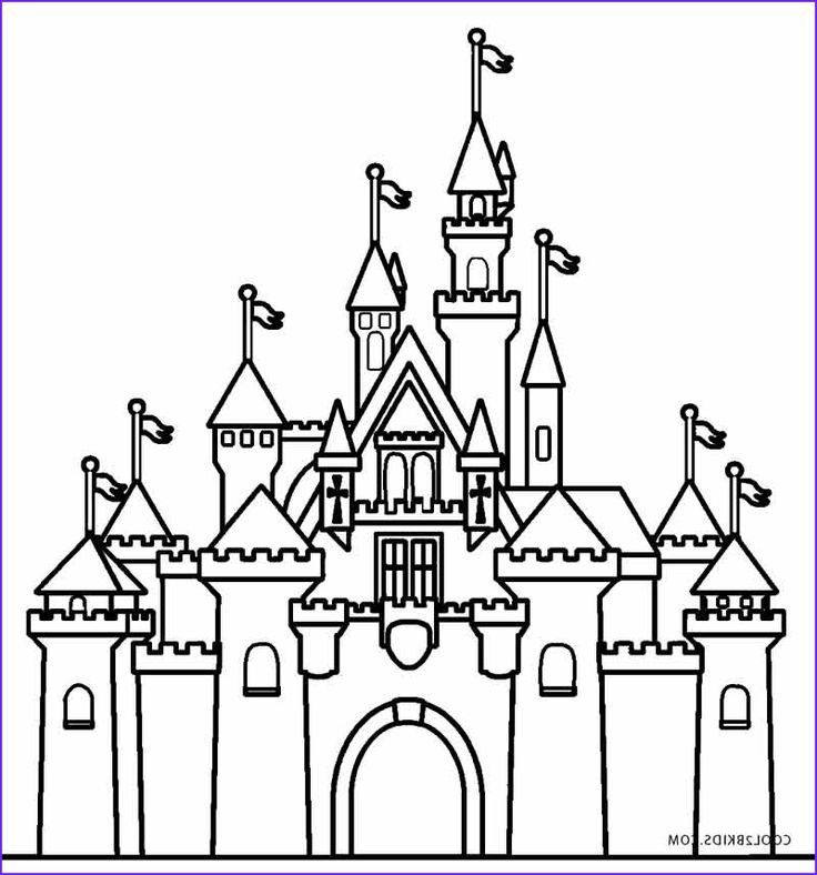 Castle Color Pages Disney Warna Gambar