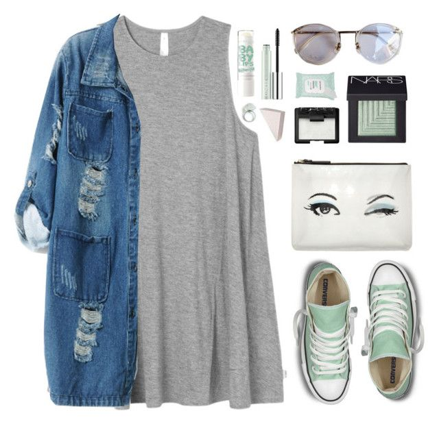 """Hint of Mint"" by amazing-abby ❤ liked on Polyvore featuring RVCA, Converse, Chicnova Fashion, Kate Spade, NARS Cosmetics, Sephora Collection, Clinique and Bobbi Brown Cosmetics"