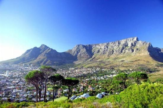 Cape Town, South Africa: Table Mountain as seen from Signal Hill