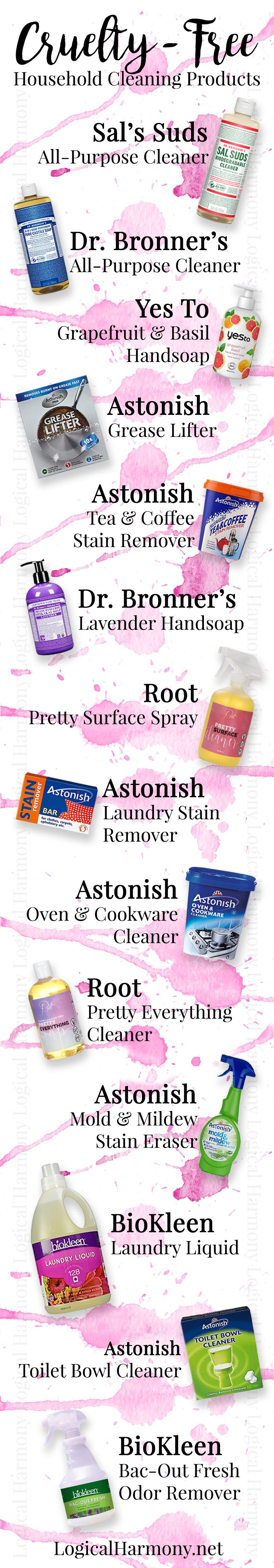 Looking for cruelty-free cleaning products? Find out what some of your options are on Logical Harmony! #crueltyfree #logicalharmony