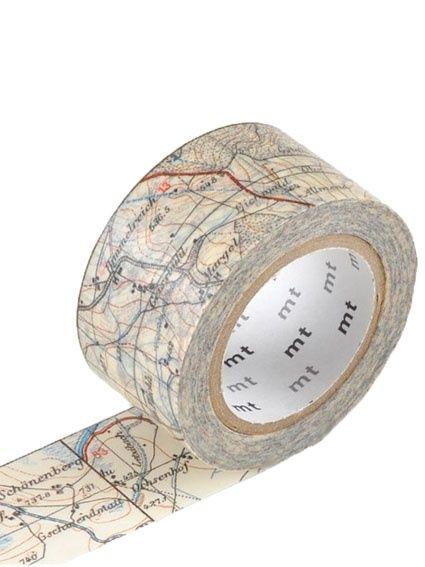 *NIEUW* MT Maskingtape map - masking tape landkaart