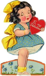 **FREE ViNTaGE DiGiTaL STaMPS**: Vintage Printable - Sweet Valentine Girl