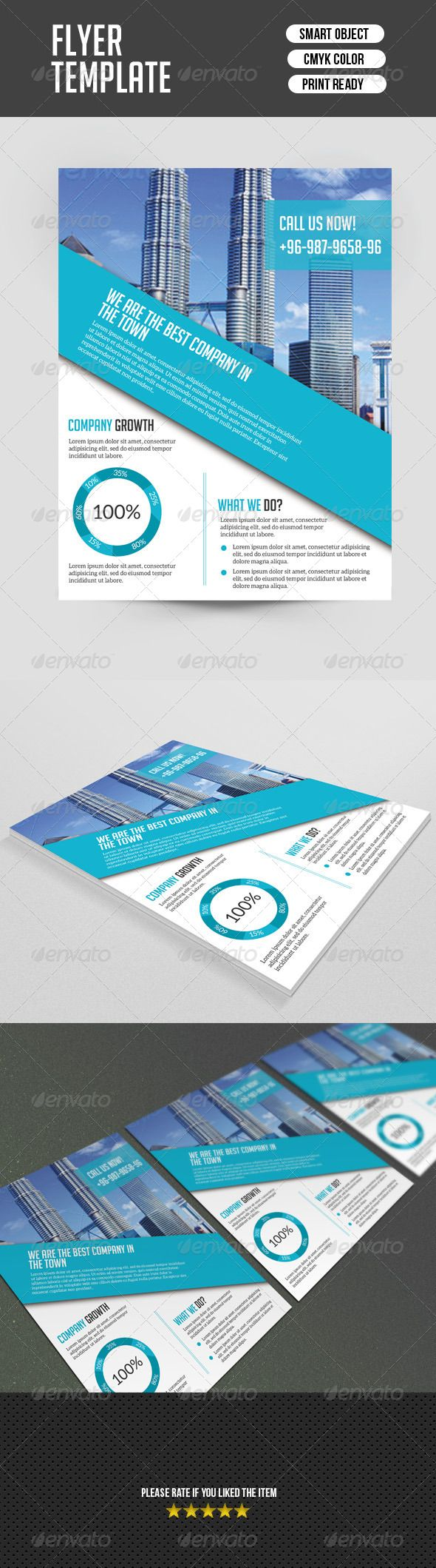 27 best business flyer templates images on pinterest business corporate flyer template cheaphphosting